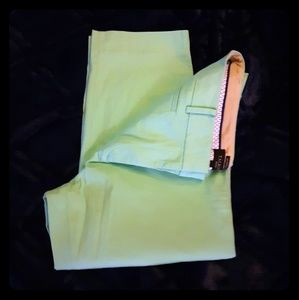 Talbots mint cropped pants
